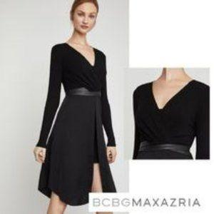 BCBG  MaxAzria Black Stretch Jersey Dress M